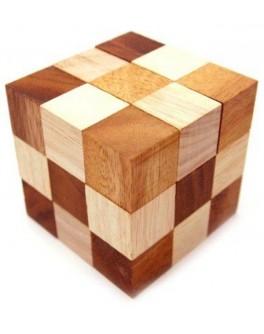Деревянная головоломка Змеекуб - kgol 4025