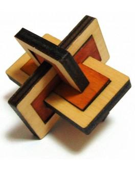 3D-головоломка деревянная Два в одном
