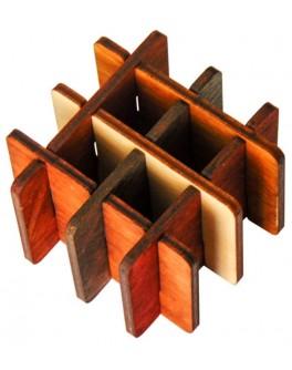 3D-головоломка деревянная Три на три - kgol 0308