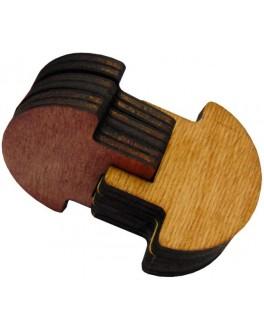 Деревянная 3D-головоломка Грибы