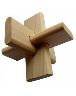 Головоломка деревянная Крест ОСС КрутьВерть