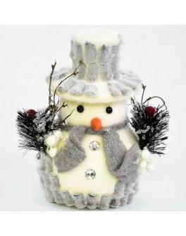 Декоративная новогодняя фигурка Снеговик 25 см
