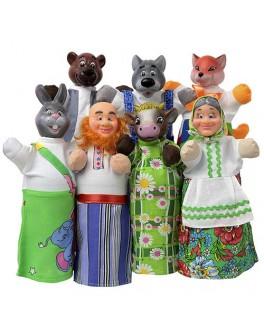 Домашний кукольный театр Сказка Соломенный бычок - alb В162