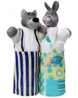 Куклы-рукавички Волк и Заяц  - alb B076/077