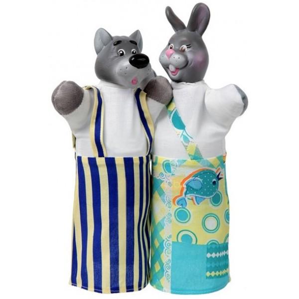 набор кукол перчаток волк и заяц чудисам
