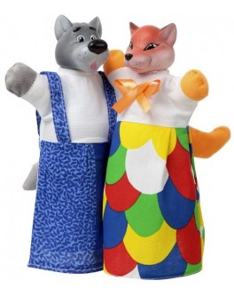 Куклы-рукавички Лиса и Волк  - alb B078/076