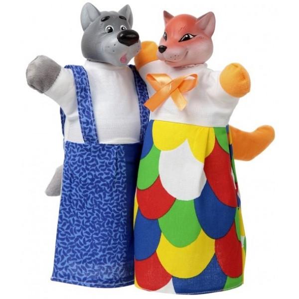 кукольный набор лиса и волк B078-076