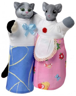 Куклы-рукавички Кот и Мышка - alb B081/082