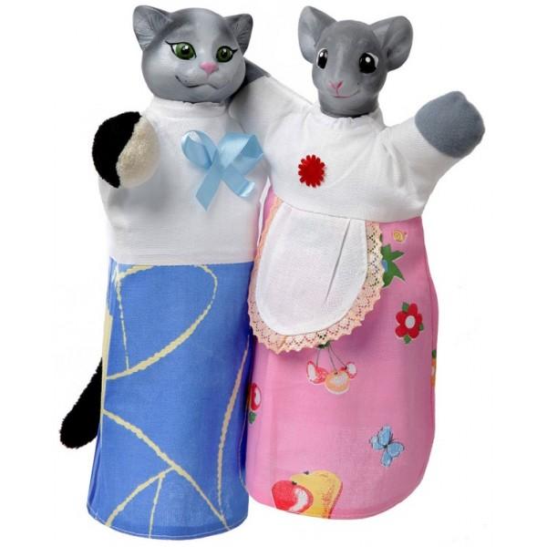 фото Куклы-рукавички Кот и Мышка - alb B081/082