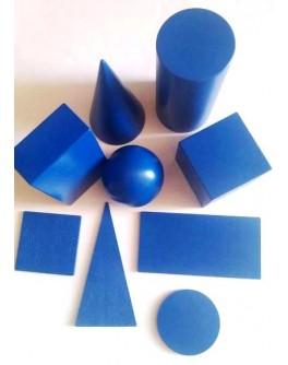 Набор деревянных геометрических тел и фигур 9 элементов, Komarovtoys