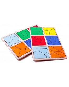 Сложи квадрат 3 уровень, Методика Никитиных, Розумний Лис - roz 90072
