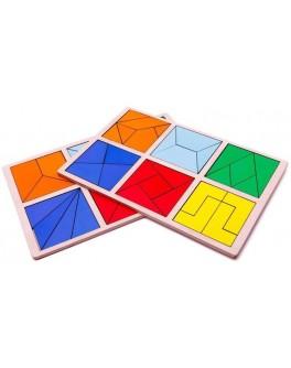 Сложи квадрат 2 уровень, Методика Никитиных, Розумний Лис - roz 90071