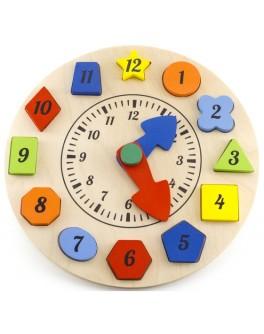 Деревянная игрушка Часы — сортер Розумний Лис - roz 90058