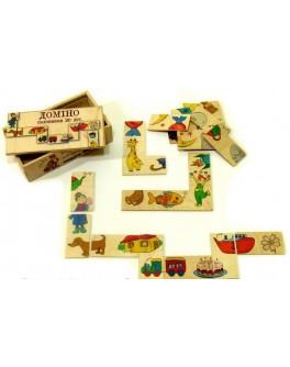 Деревянная игрушка Домино Половинки 20 дет Розумний Лис