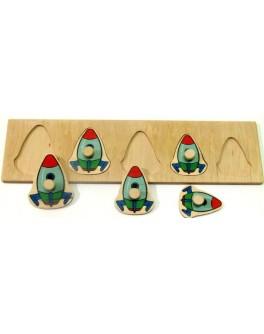 Деревянная игра Досточка Больше Меньше Ракеты Розумний Лис - roz 90036