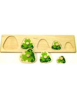 Деревянная игра Досточка Больше Меньше Лягушки Розумний Лис - roz 90035