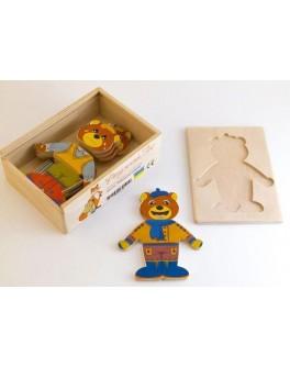 Деревянная игрушка Одевай-ка Мишка Розумний Лис - roz 90027