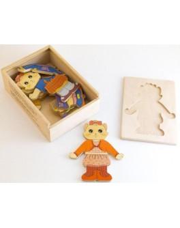 Деревянная игрушка Одевай-ка Кошечка Розумний Лис - roz 90025