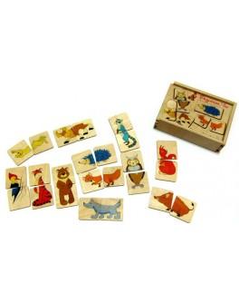 Деревянная игра Пазлы половинки Лесные животные Розумний Лис - roz 90017