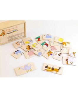 Деревянная игра Пазлы половинки Домашние животные Розумний Лис - roz 90013