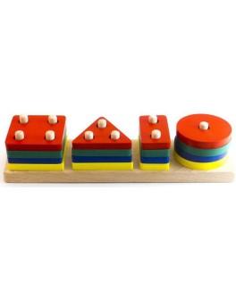 Деревянная игрушка Геометрик классический 4 фигуры Розумний Лис