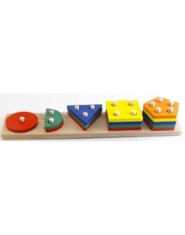 Деревянная игрушка Геометрик 5 фигур Розумний Лис