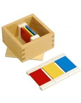 Цветные таблички - ящик №1. Методика Монтессори - SV цветные таблички 1