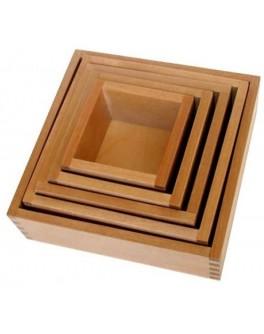 Вкладывающиеся коробочки 5 шт. Методика Монтессори - SV вкладывающиеся коробочки