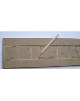 Зразки каліграфічного письма цифр 0-9 тренажер демонстраційний 75 см - SV тренажёр цифры