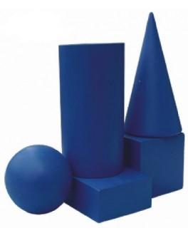 Набор геометрических тел 5 шт, в проекции 5 см. Методика Монтессори - SV геометрические тела 5
