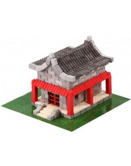 Конструктор из керамических мини-кирпичиков Китайский домик, 600 деталей - esk 70354