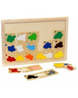 Деревянная игра Классификация. Смешение цветов Lam Toys - lam 1319
