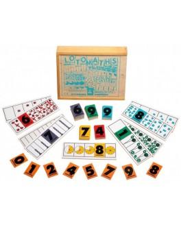 Деревянная игра лото математика Lam Toys