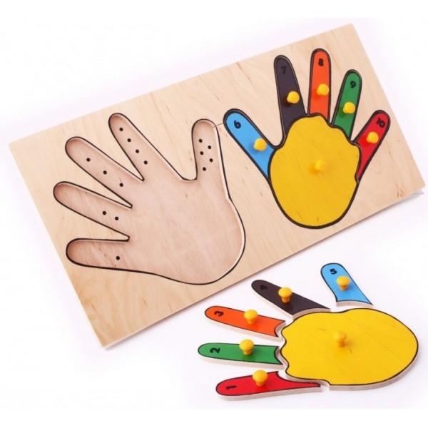 рамка-вкладыш Руки Lam Toys 5001