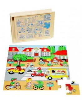 Деревянная игрушка пазл Город Lam Toys - lam 1431