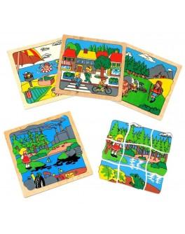 Деревянная мозаика Экология Lam Toys