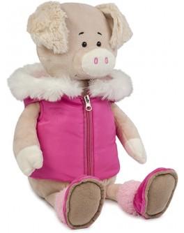 Мягкая игрушка Свинка Ася в спортивной жилетке, 20 см