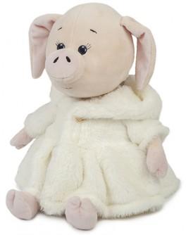 Мягкая игрушка Свинка Зефирка в белой шубке, 20 см