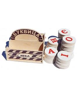 Деревянная игра Буквица Hega - hega 130
