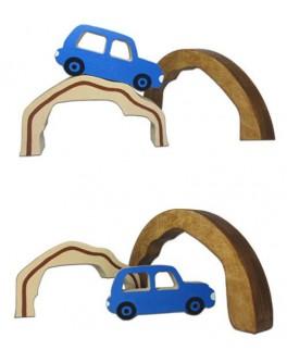 Деревянная игрушка Веселые горки №2 Hega