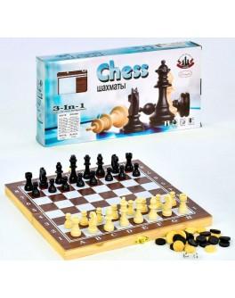 Настольные игры 3 в 1: шахматы, нарды и домино - igs 70206