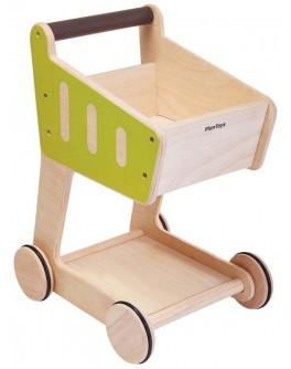 Деревянная игрушка Plan Toys Тележка для покупок (3481) - plant 3481