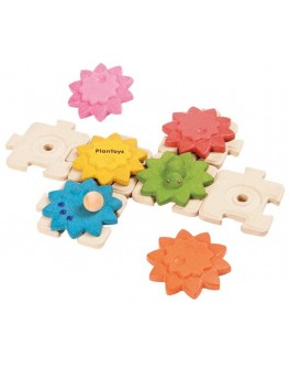 Деревянная игрушка Plan Toys Шестеренки Стандарт (5634) - plant 5634