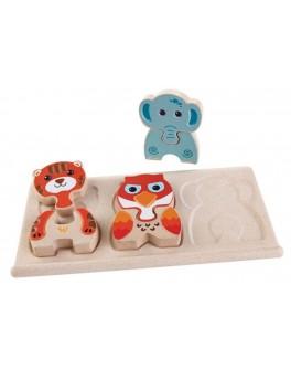 Деревянная игрушка Plan Toys Зоо-пазл (5611) - plant 5611