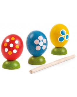 Набор деревянных погремушек Plan Toys в виде яиц (5602)
