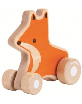 Деревянная игрушка Plan Toys Лисичка на колесах (5445) - plant 5445