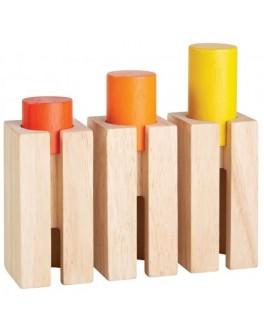 Дерев'яна іграшка Plan Toys Блоки-сортер - висота та глибина (5377) - plant 5377
