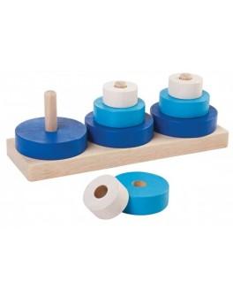 Деревянная игрушка Plan Toys Три пирамидки (5368) - plant 5368