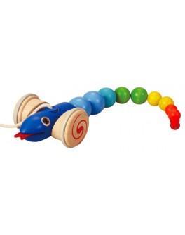 Деревянная игрушка Plan Toys Каталка змея (5109) - plant 5109