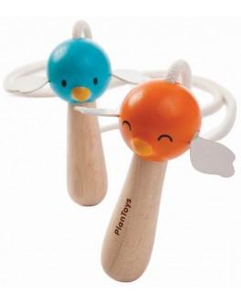 Скакалка Plan Toys з дерев'яною ручкою (4349) - plant 4349